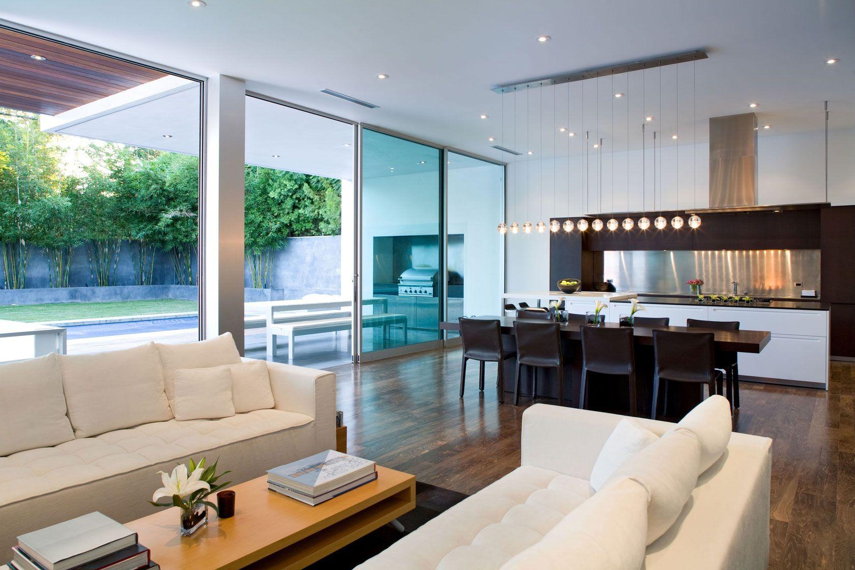 Dise o de moderna casa de dos pisos construida en 220 for Interior design moderno