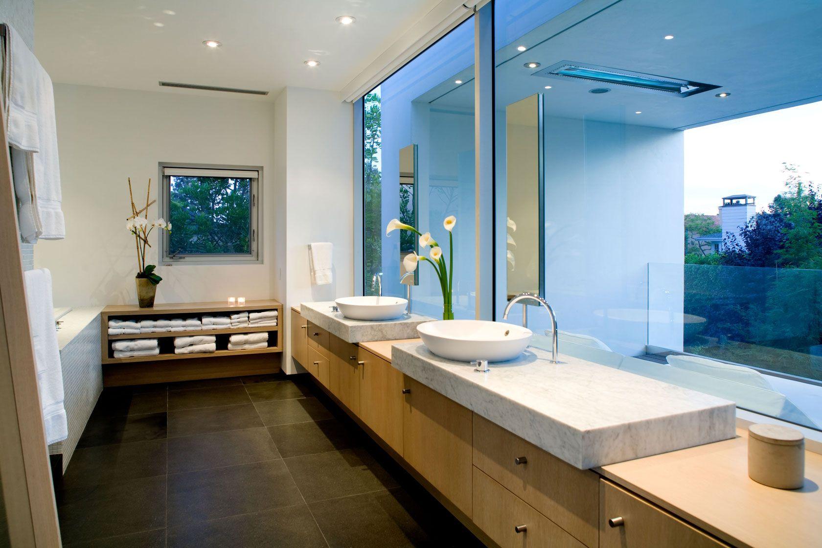 Dise o de moderna casa de dos pisos construida en 220 - Cuartos de bano modernos ...