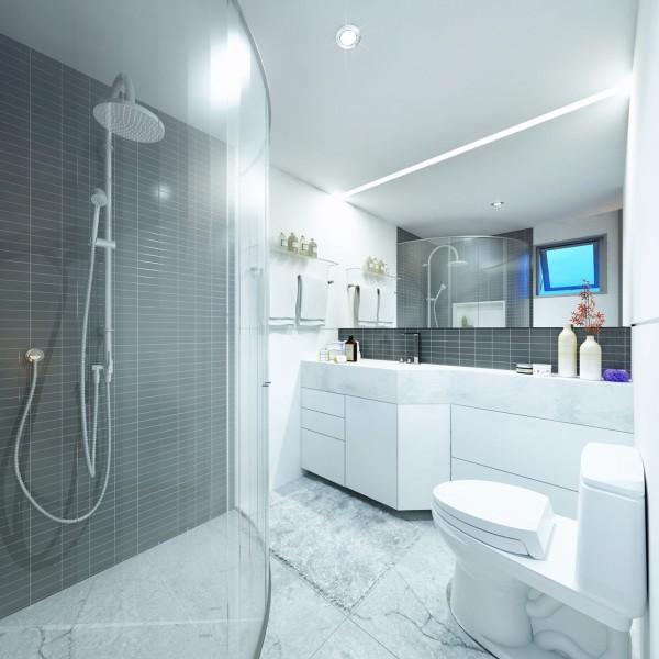 departamento de 30 metros cuadrados planos de arquitectura On banos modernos para departamentos pequenos