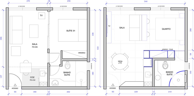 Departamento de 30 metros cuadrados planos de arquitectura for Small apartment layout plans
