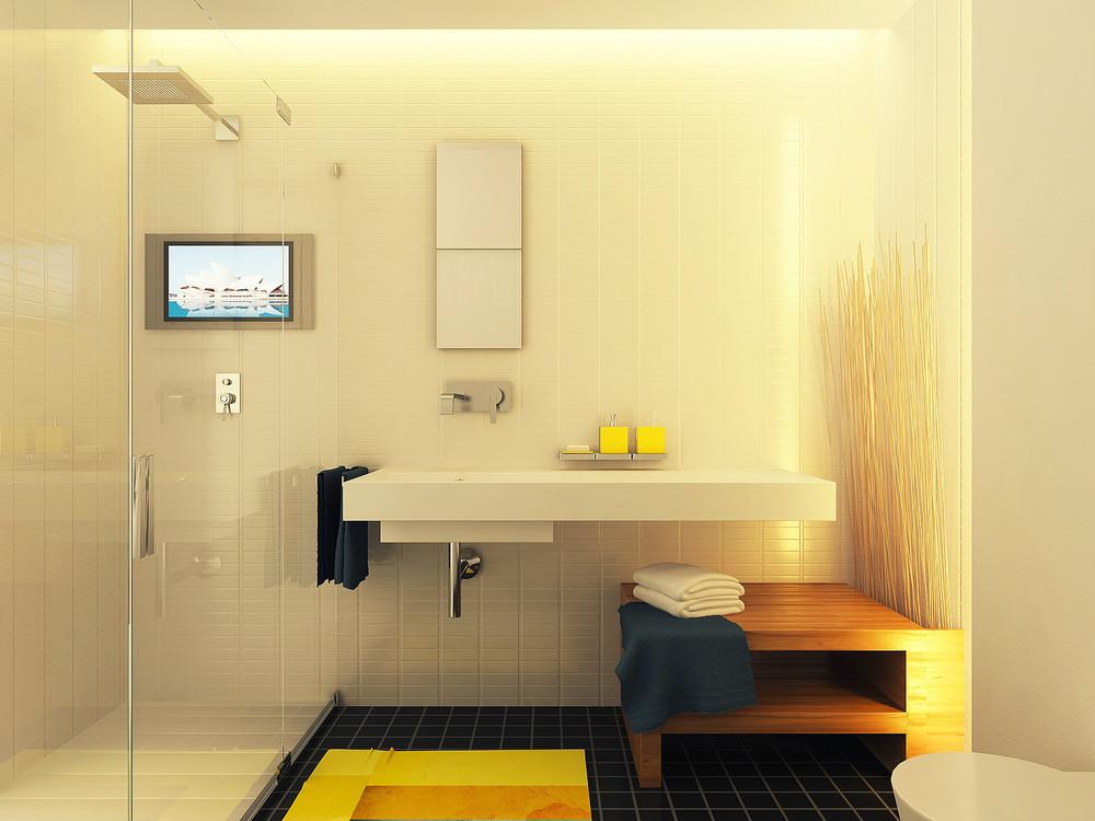 Diseño de lavabo moderno de forma cuadrada