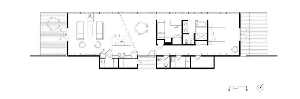 Plano casa de campo construida en madera moderno dise o for Planos de casas de campo