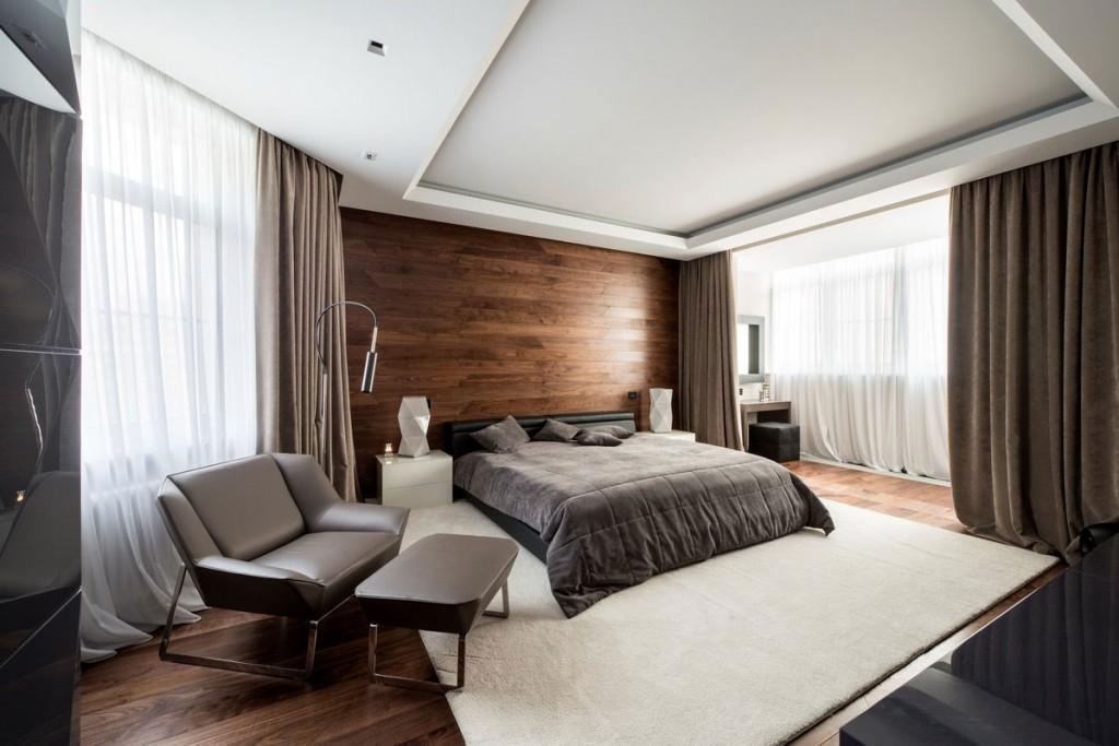 Diseño de dormitorio de departamento moderno