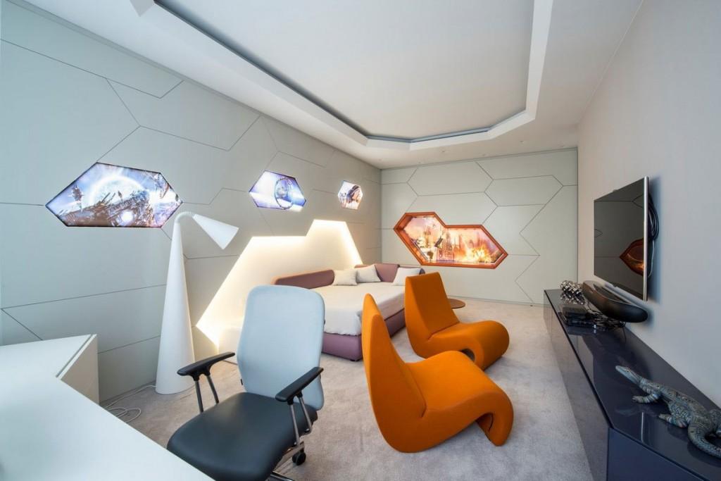 Diseño de dormitorio ultra moderno de apartamento