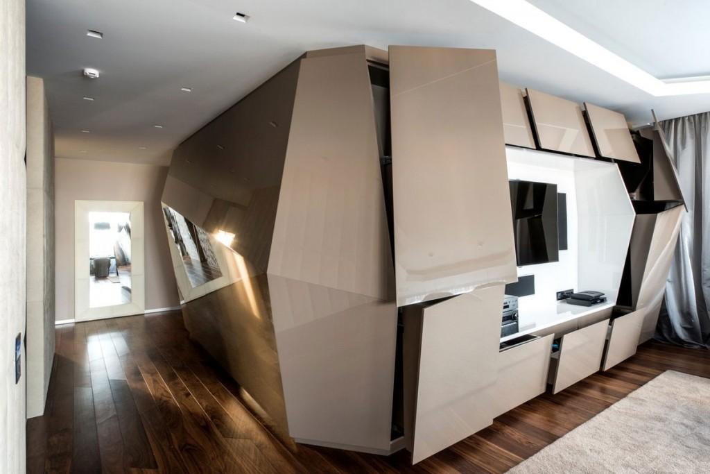 Diseño de estante moderno para televisor