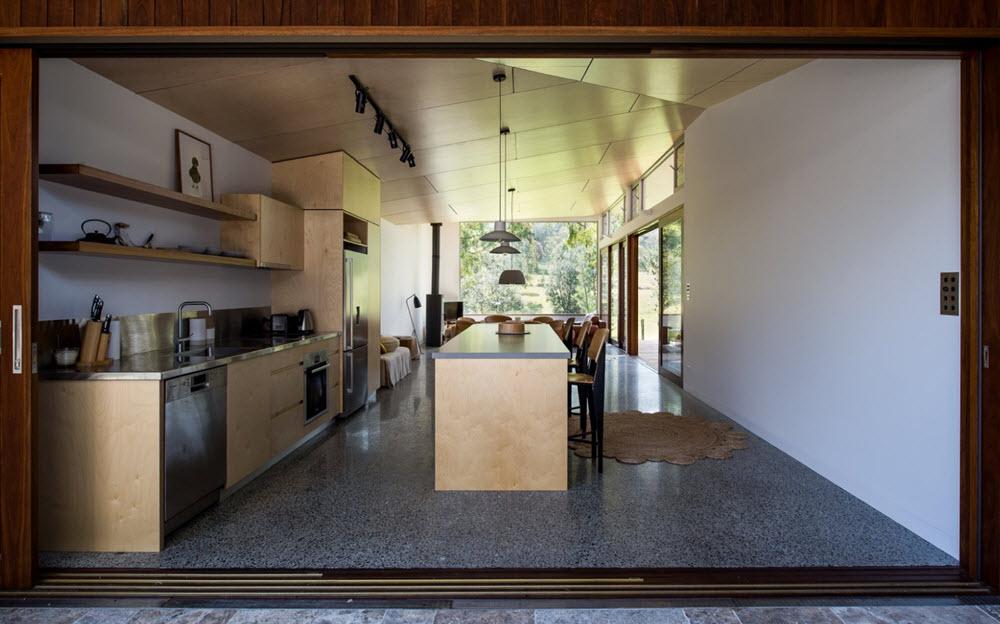Casas de un piso 119 metros cuadrados planos de arquitectura for Cocinas con salida al patio