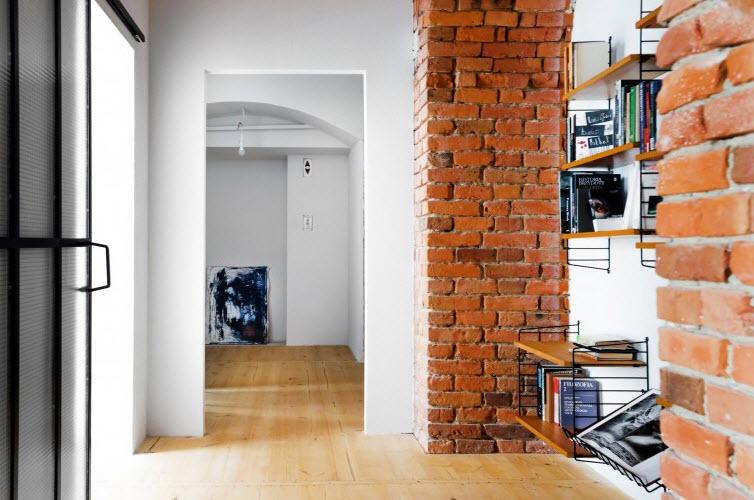 Amplios pasillos de departamento