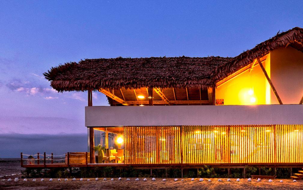 Casa con materiales de bambu