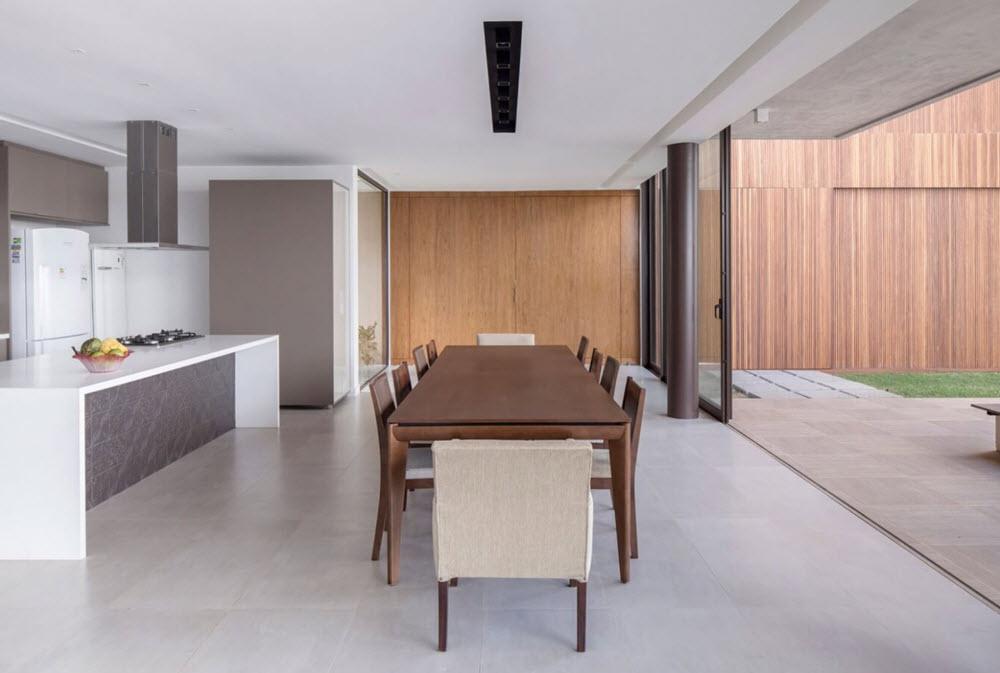 Planos casa moderna dos pisos forma l planos de arquitectura for Cocina comedor en l