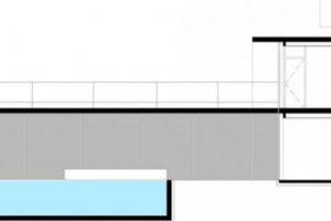 Corte de la casa moderna