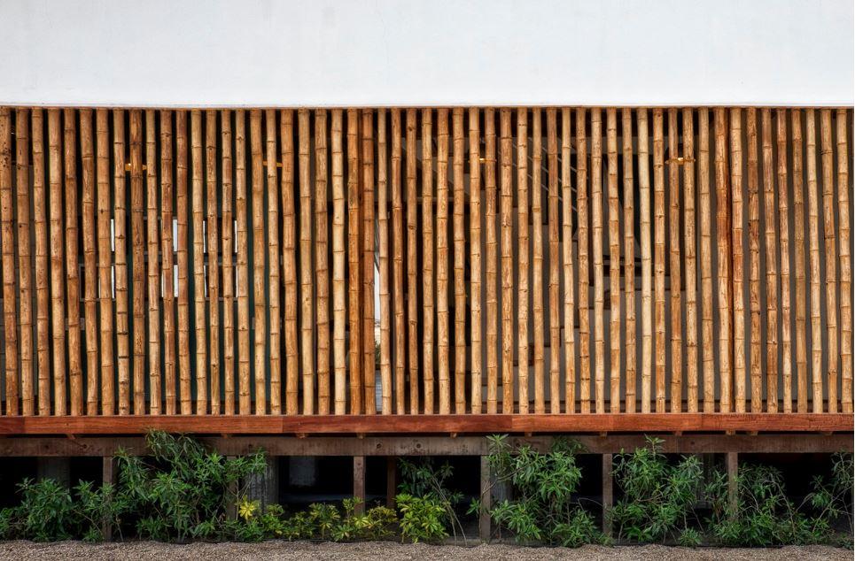 Dise 241 O De Casa De Playa Con Bamb 250 Y Madera Planos De