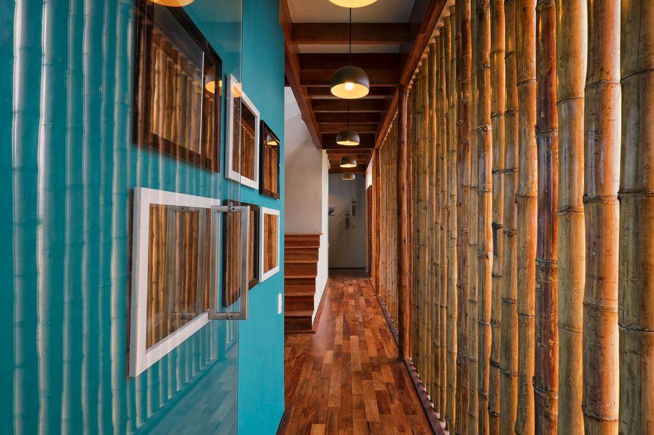 Muro construido con bambú