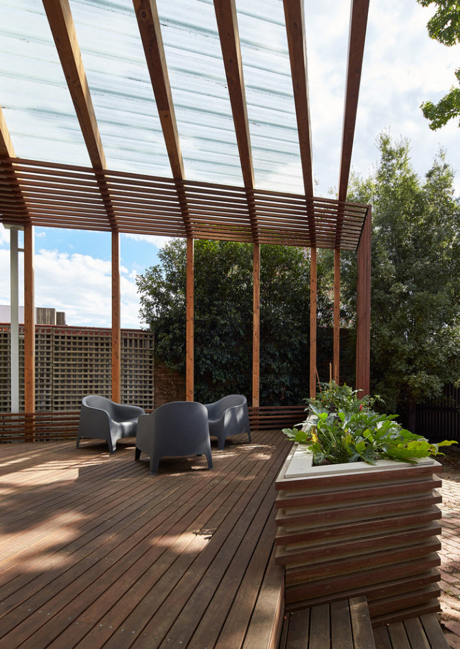 Detalle De Madera En Toda La Terraza Planos De Arquitectura