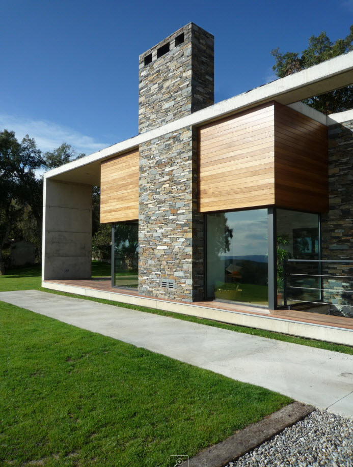 Dise o de casa terreno rectangular planos de arquitectura for Casas modernas hormigon visto