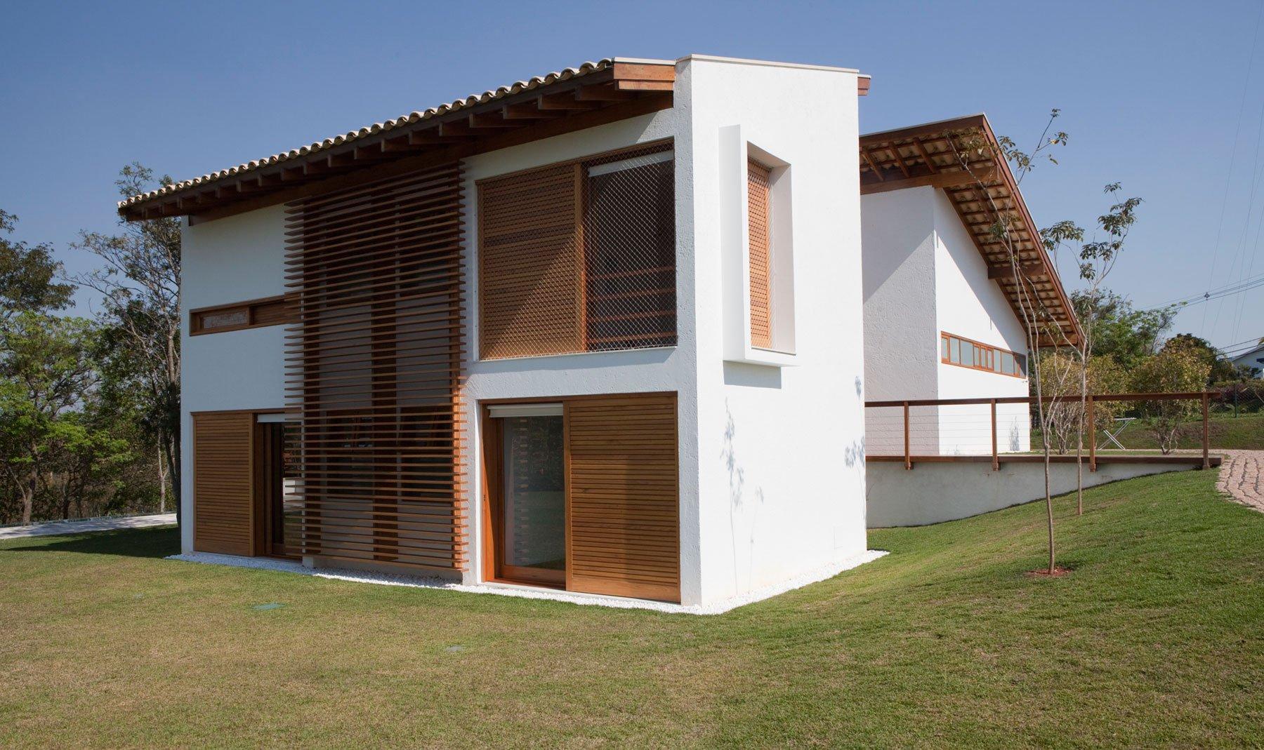 Diseño de casa de campo de madera y hormigón