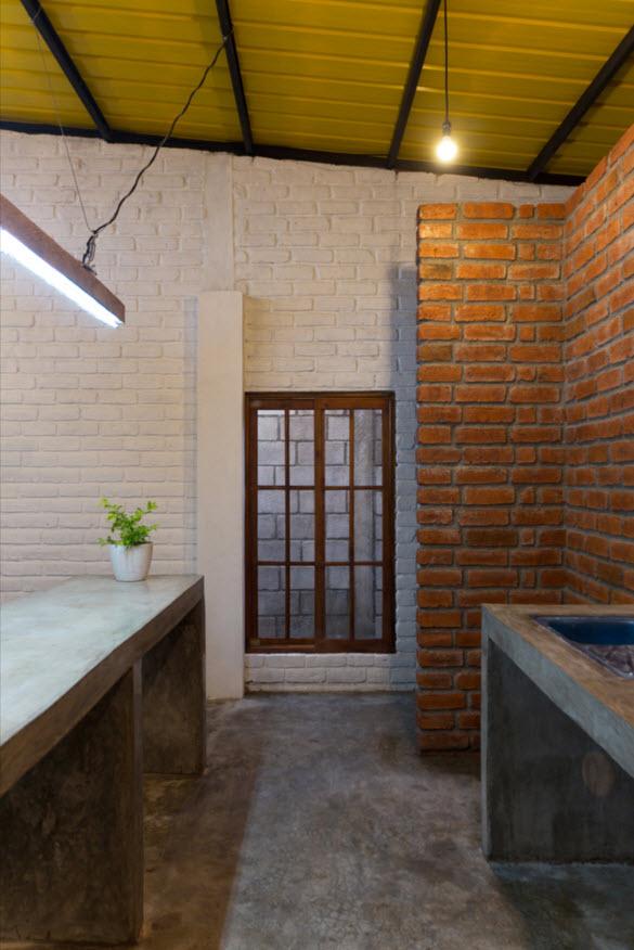 Plano de peque a casa construida en 85 metros cuadrados for Pavimentos rusticos para interiores