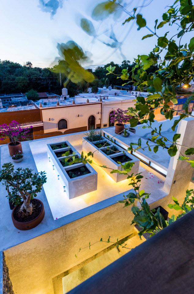 Diseño de techos con luces