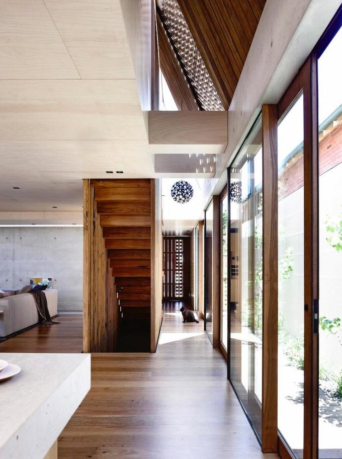 Diseño interior del pasillo