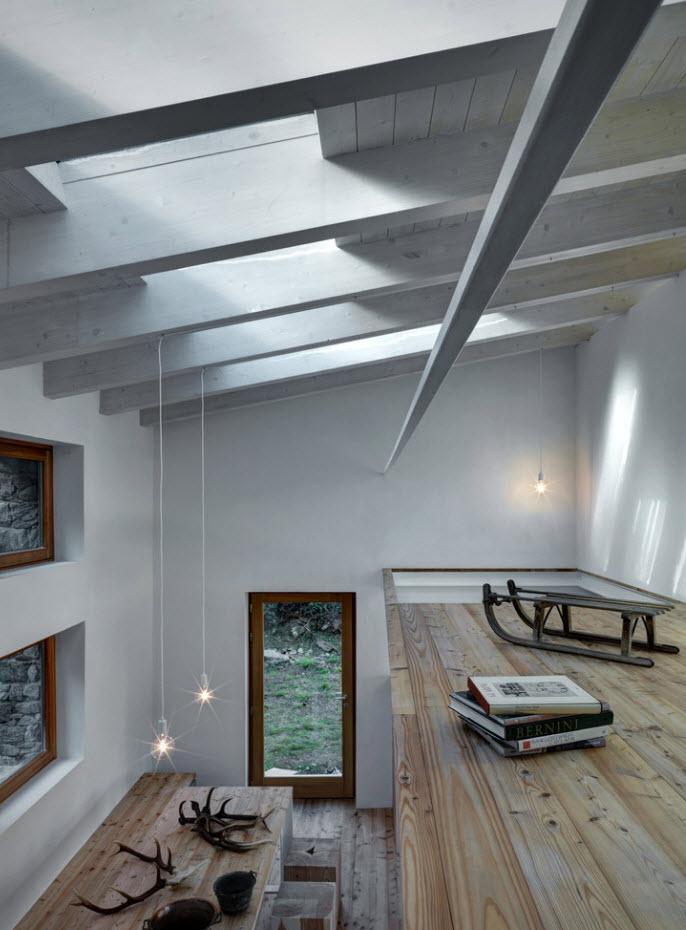 doble altura en el interior de la casa