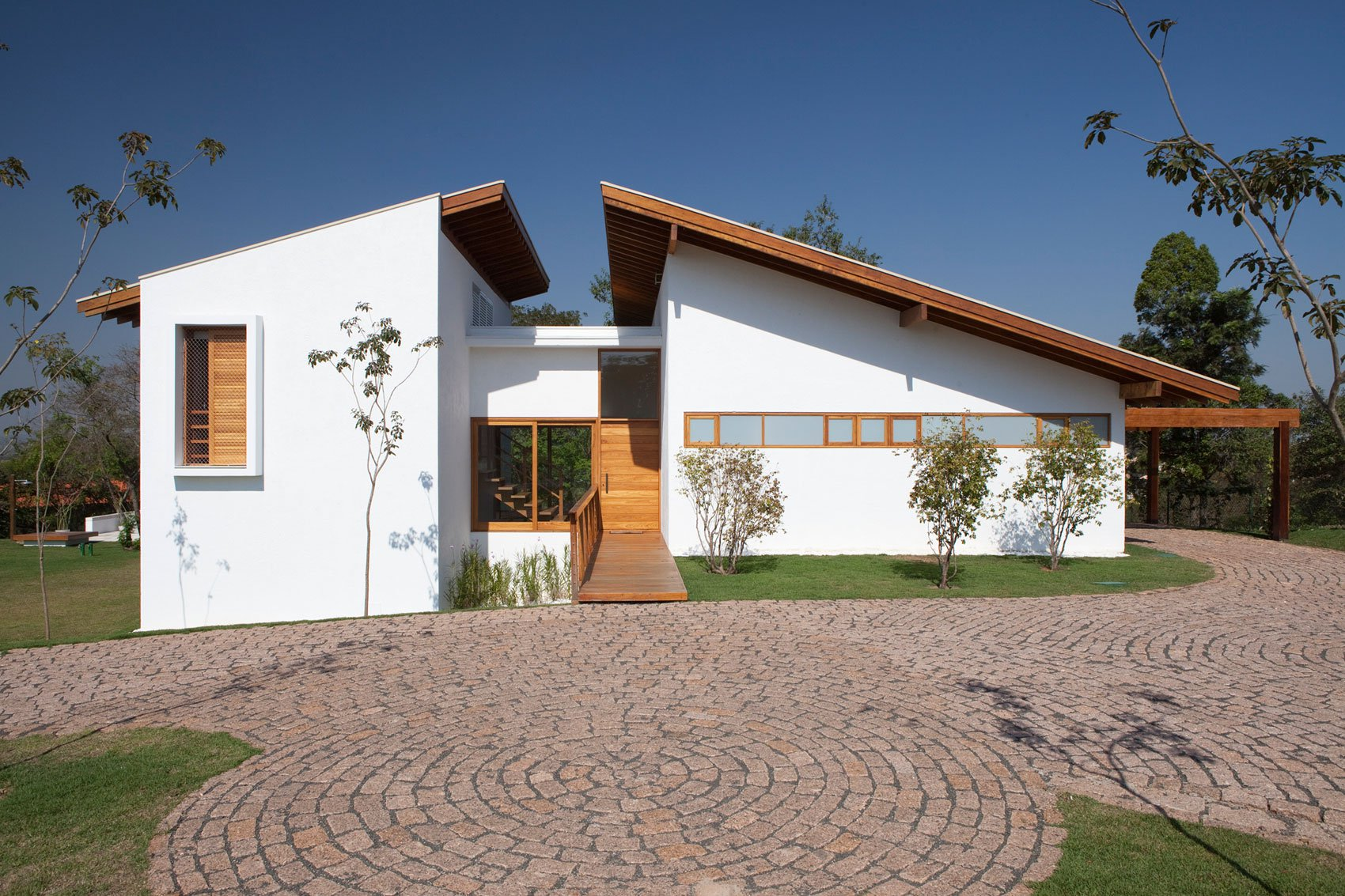 Fachada de casa de campo moderna planos de arquitectura for Diseno de casas de campo modernas