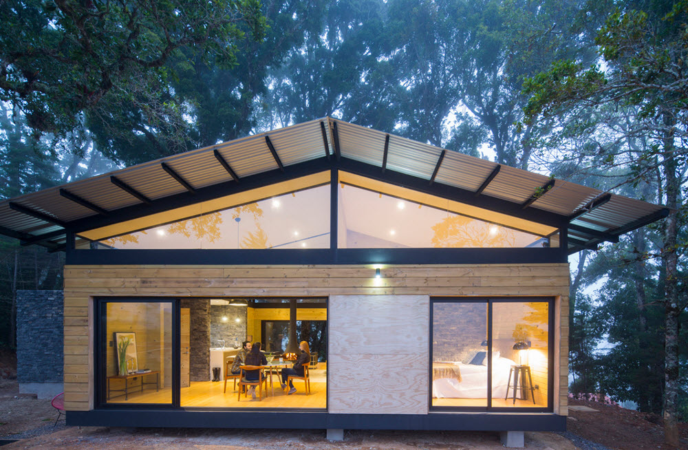 Casa de campo dos dormitorios planos de arquitectura for Diseno de casa sencilla