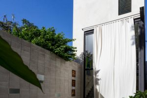 Fachada posterior de la casa moderna