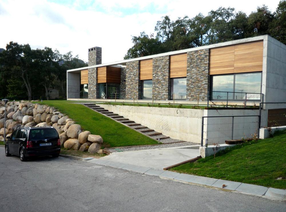 Dise o de casa terreno rectangular planos de arquitectura - Bodegas en sotanos de casas ...