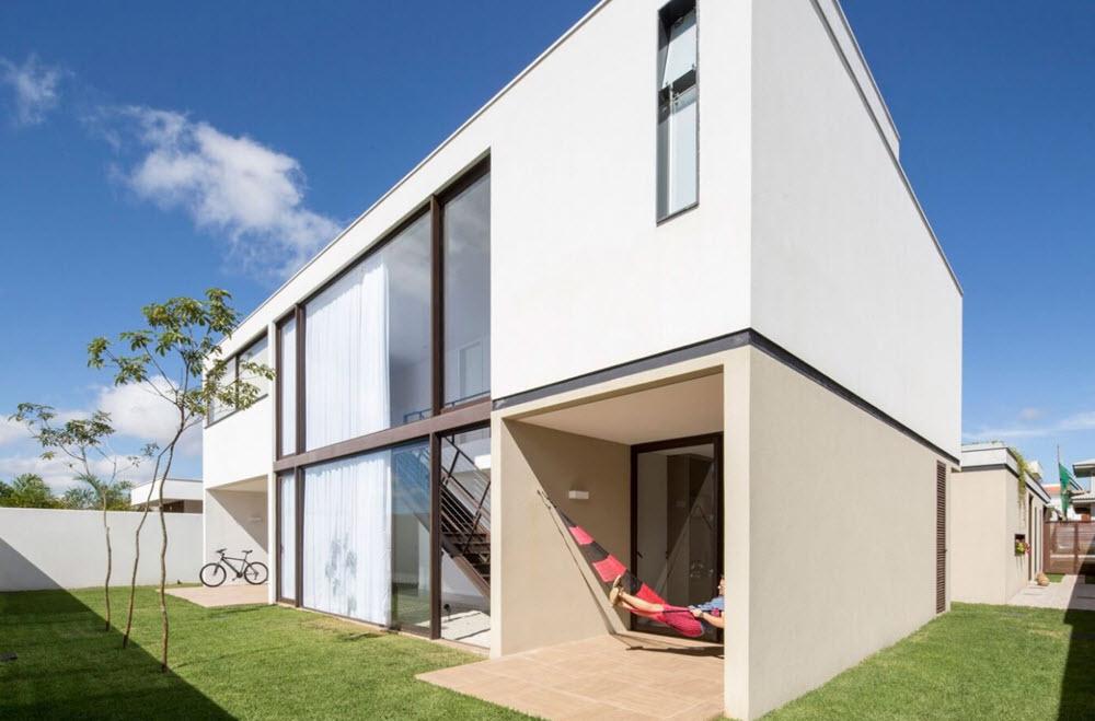 Planos casa moderna dos pisos forma l planos de arquitectura for Fachadas viviendas modernas