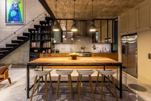 Imagen interior de cocina comedor moderna