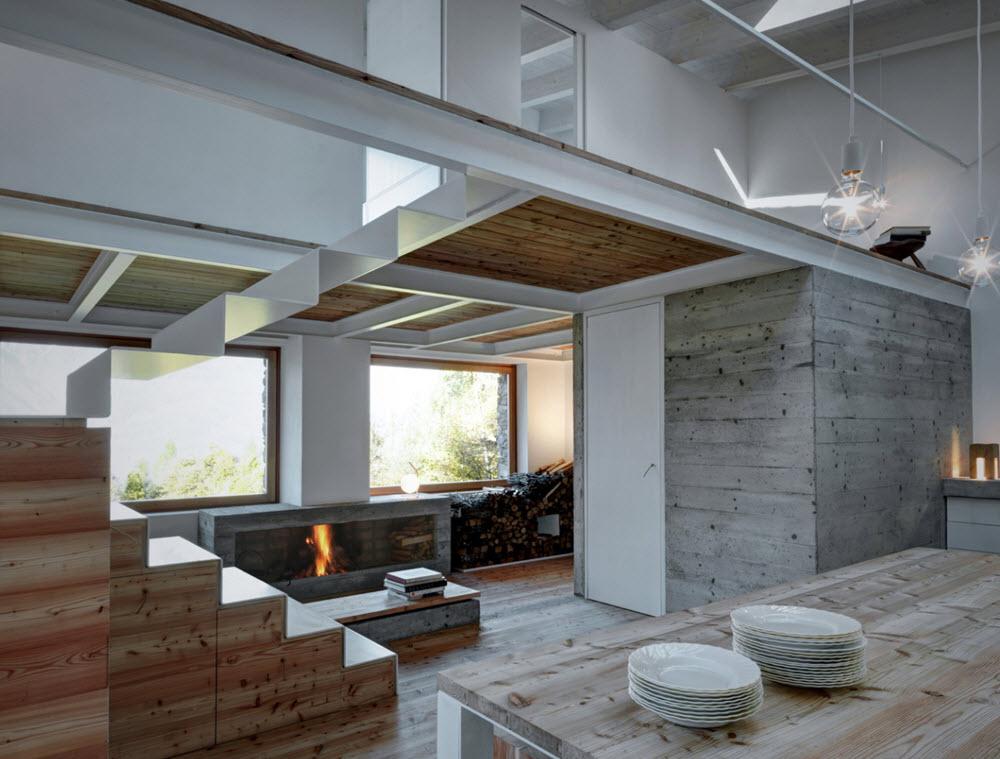 Casa de campo peque a 75 metros cuadrados planos de - Interiores modernos de casas ...