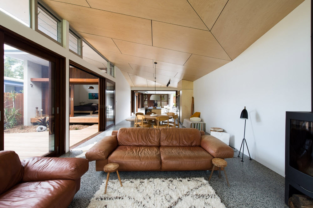 Interior de la moderna casa