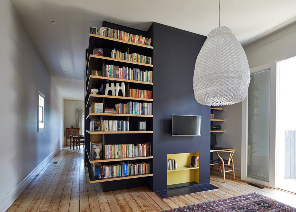 Interior moderno de sala estar