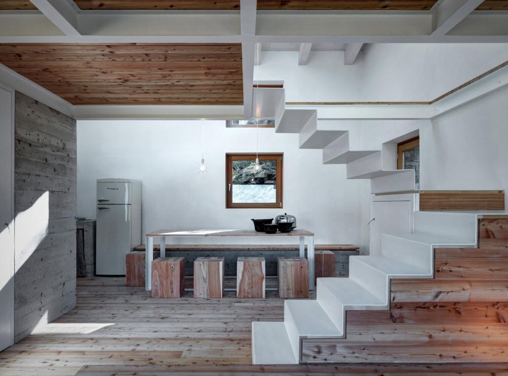 Casa de campo peque a 75 metros cuadrados planos de for Escaleras de cemento para interiores