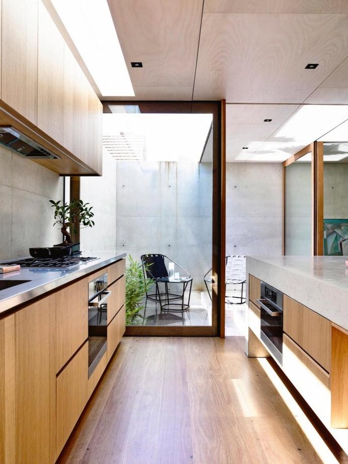 Moderna cocina con terraza