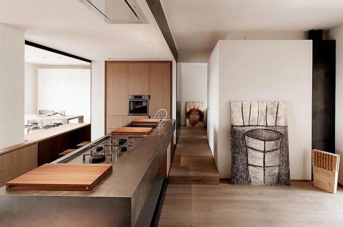 Moderna cocina del departamento