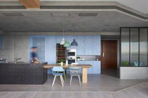 Moderna cocina en concreto