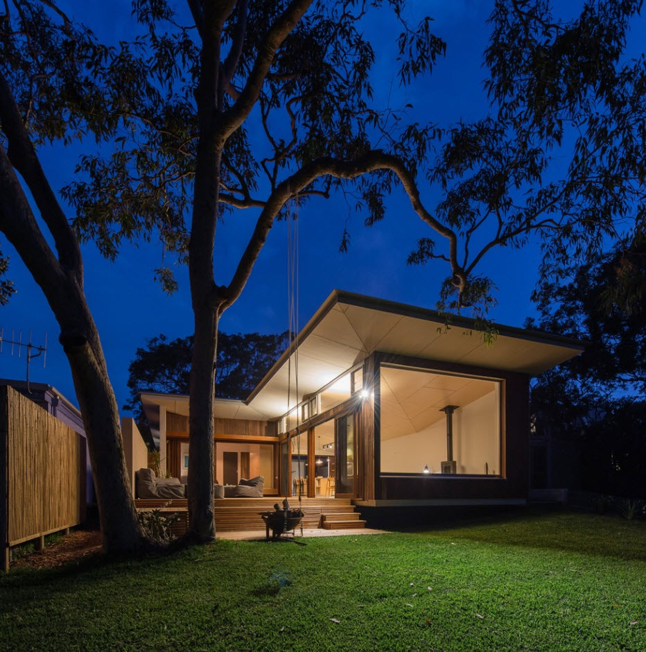 Casas de un piso 119 metros cuadrados planos de arquitectura for Casas modernas techos inclinados