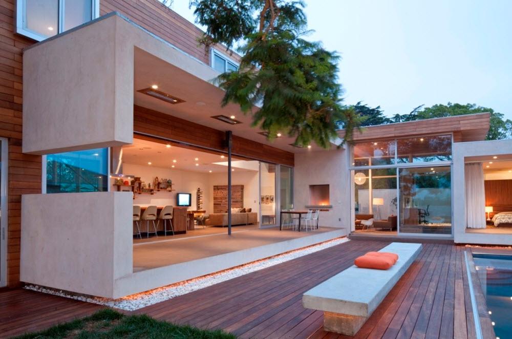 Moderna fachada interior