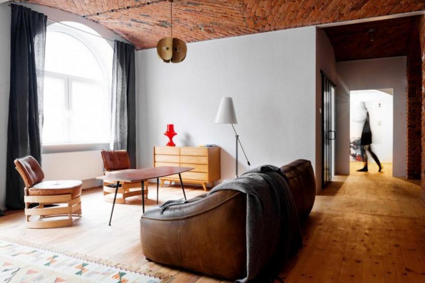 Salas con techo abovedados y paredes tarrajeadas