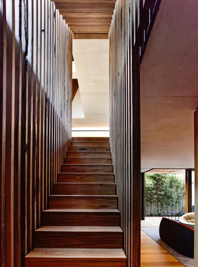 Moderno diseño de escalera