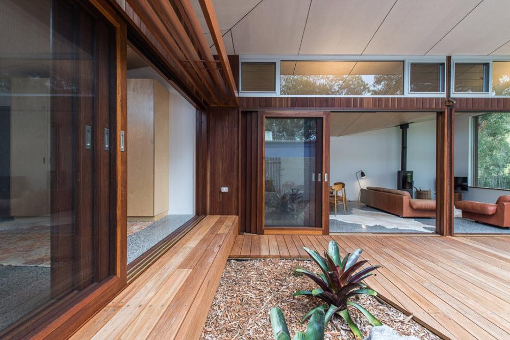 patio interior de la casa planos de arquitectura