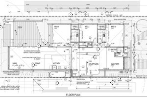 Plano casa un piso con medidas