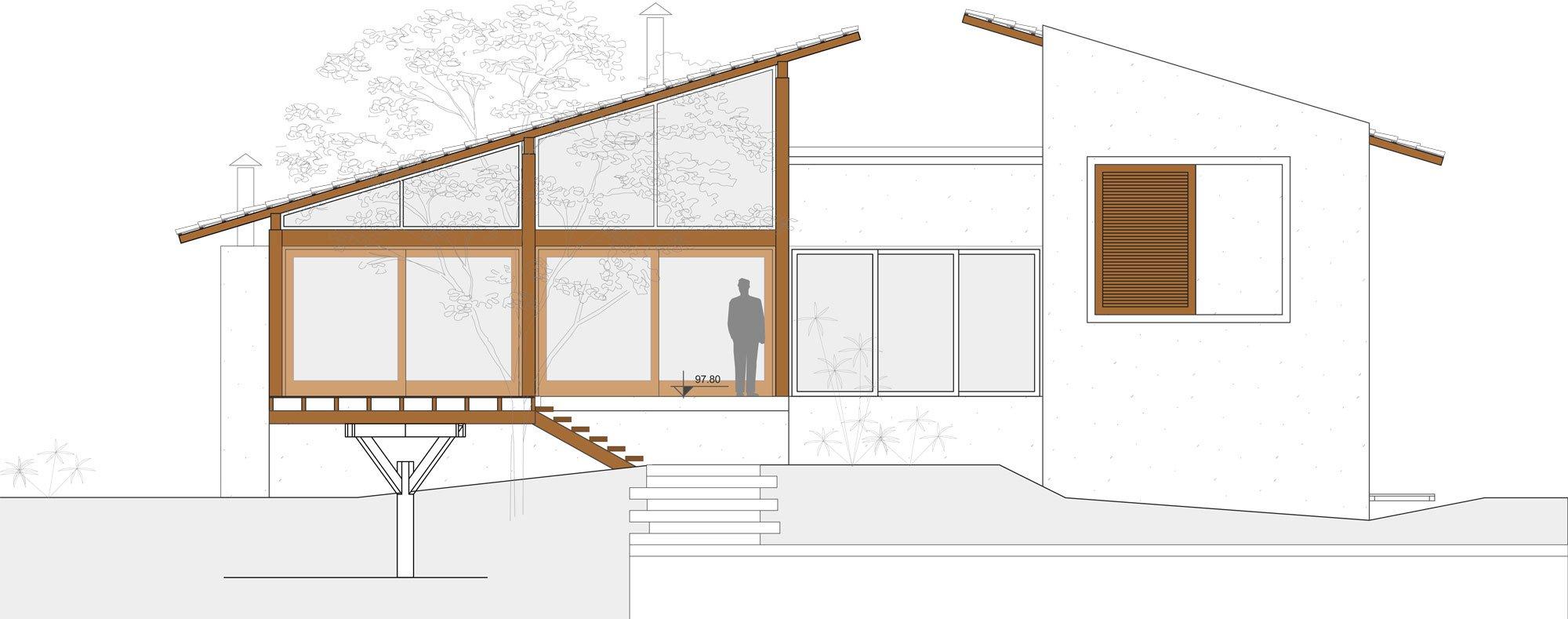 Casa de campo de madera y hormig n de 280 metros cuadrados for Cubiertas para casas campestres