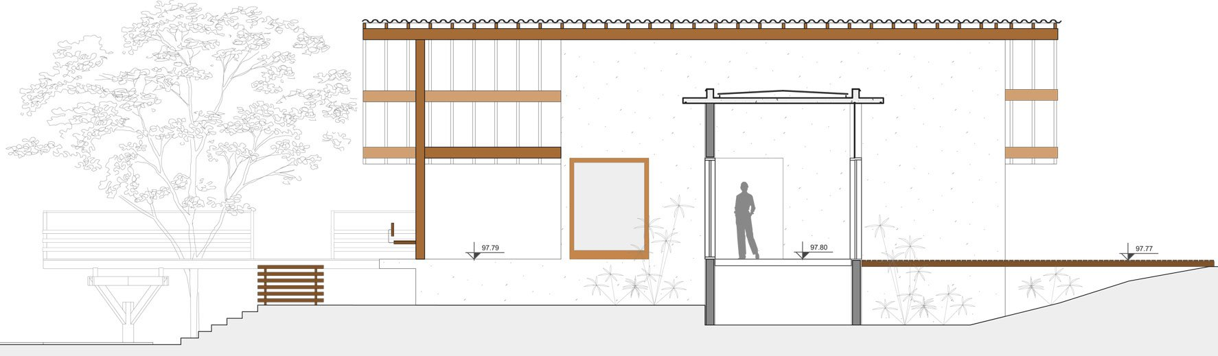 Casa de campo de madera y hormig n de 280 metros cuadrados - Plano casa de campo ...