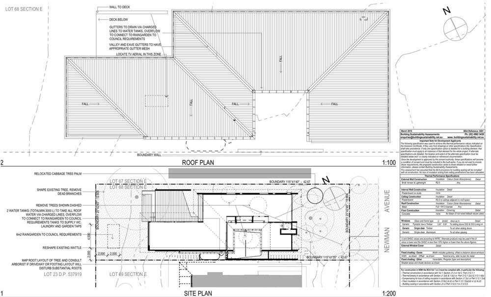 plano de techos planos de arquitectura