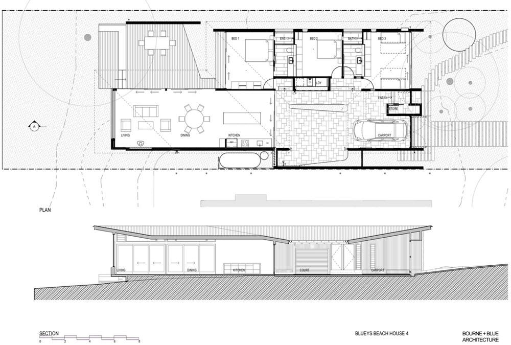 Casas de un piso 119 metros cuadrados planos de arquitectura for Arquitectura planos y disenos