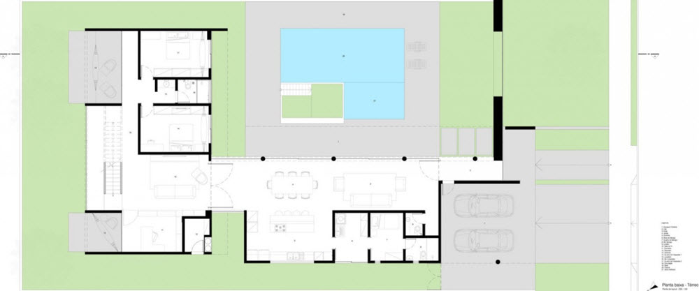 Planos casa moderna dos pisos forma l planos de arquitectura - Fotos de casas en forma de l ...