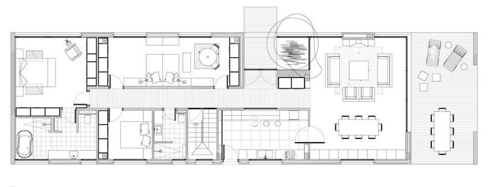 Dise O De Casa Terreno Rectangular Planos De Arquitectura
