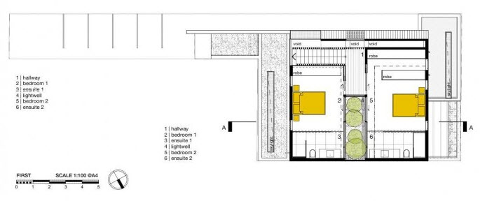 Plano de segunda planta de la vivienda