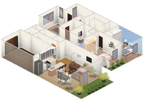 Espacialidad interior en la peque a casa planos de for Arquitectura planos y disenos